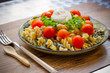 Salmon and Tuna Summer Pasta Salade - 217204491