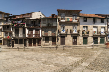 Landscape of the city of Guimarães in Portugal