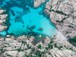 Quadro Aerial shot of a sandy cove