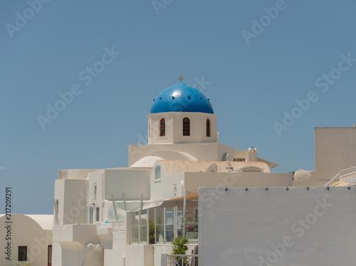 Foto Spatwand Santorini Church in Santorini