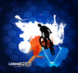 Young male bicycle jumper. Healthy lifestyle. Vector - 217211014