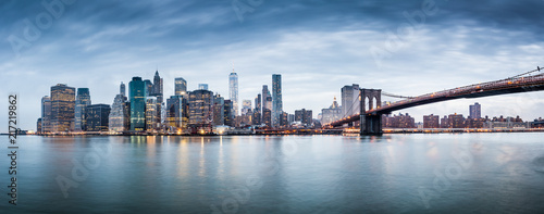 New York city sunset panorama  - 217219862