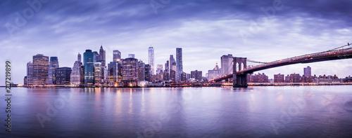 New York city sunset panorama  - 217219899