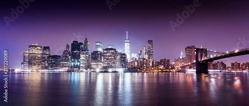 New York city sunset panorama  - 217220089