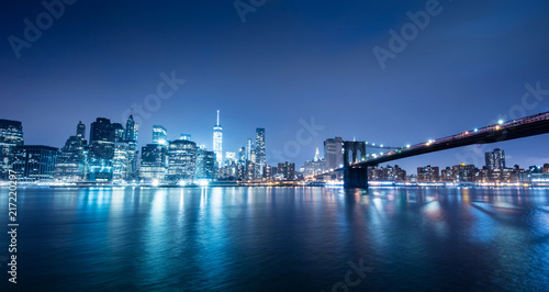 New York city sunset panorama  - 217220297