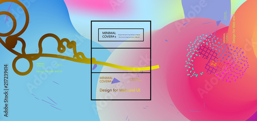 Fluid color background. Liquid shape . Eps10 vector. - 217239614