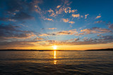 Sunset over Torch Lake in northern Michigan - 217244069