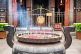 Burning incense in Wenshu Temple, Chengdu, China