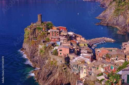 In de dag Liguria Vernazza old village in Cinque Terre, Italy