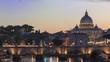 Quadro Sunset in Rome, Italy capital