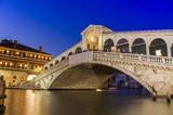 Venice at night. Rialto bridge