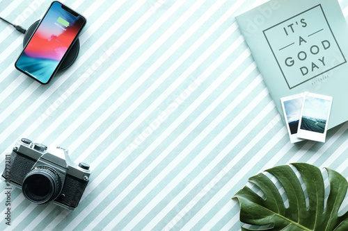 Foto Murales Business vacation Flat lay