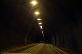Blurred motion background of road tunnel in Norway - 217279865