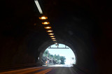 Blurred motion background of road tunnel in Norway - 217279877