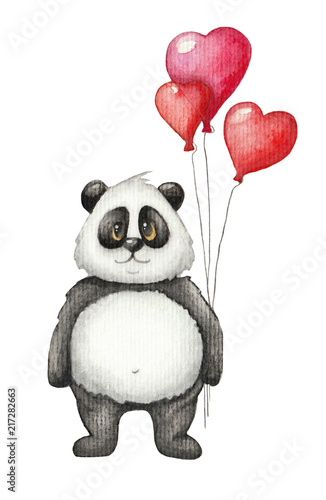 sliczna-akwareli-panda-z-czerwien-balonem-recznie-rysowane-dzieci-ilustracja-na-bialym-tle-kartka-swiateczna-swietego-walentego