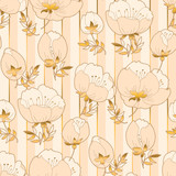 Ivory and beige luxury floral seamless pattern.