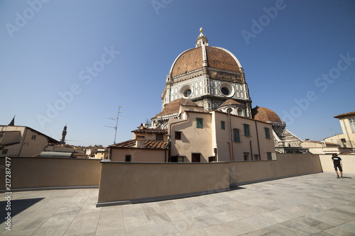 Fotobehang Toscane Italia,Toscana,Firenze, la cupola della cattedrale di Santa Maria del Fiore.