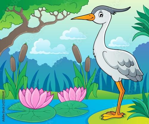 Canvas Voor kinderen Bird topic image 9