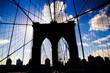l'ombra del ponte di Brooklyn