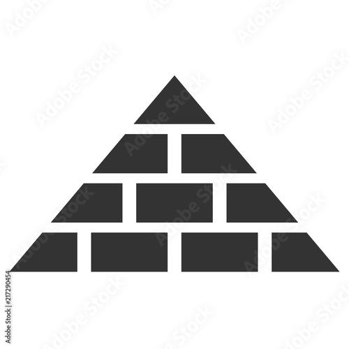Египетская пирамида. Иконка.
