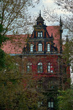 Building of The National Museum in Wroclaw, Poland, covered in gorgeous ivy, designed by an architect Karl Friedrich Endell and erected in 1883 - 1886.