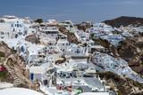 Santorini view on city