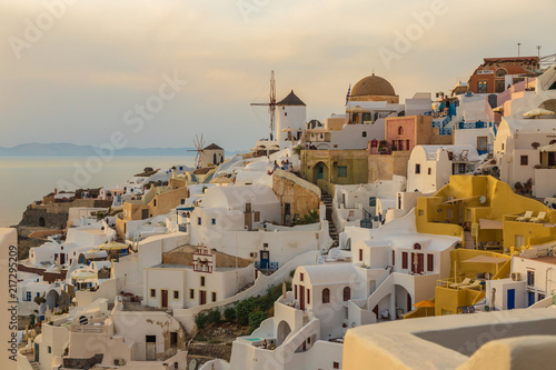 Oia view on sunset