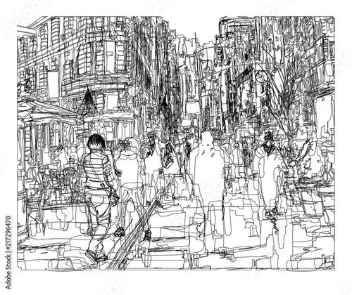 Foto Spatwand Art Studio Street in New York city