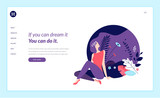 Web page design template for beauty, spa, wellness, natural products, cosmetics, body care, healthy life. Modern flat design vector illustration concept for website and mobile website development.  - 217306872