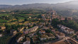 Aerial drone view of Vinci village, Toscana, Italy. Typical rural village of Italy - 217312807