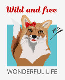 Wild and free poster. Design for youth, teenagers. - 217325626