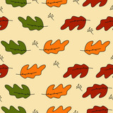 Pack of pretty autumn leaves and flowers