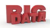 Big Data  text. 3d illustration
