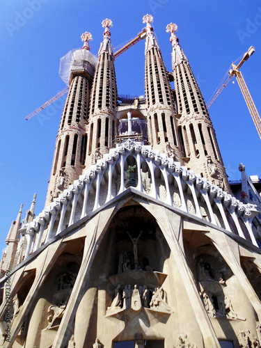 Aluminium Barcelona Templo Expiatorio de la Sagrada Familia - Barcelona. Cataluña. España. Europa.