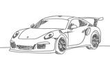 Sportwagen handgezeichnet scribble