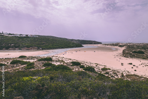 Aluminium Purper Amoreira beach in Aljezur, Portugal