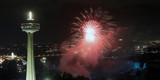 feux d'artifice à Niagara Falls