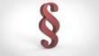 3d red Paragrafen-Symbole