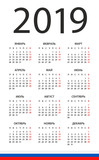 Calendar 2019 - illustration. Russian version - 217358071