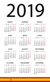 Calendar 2019 - illustration. Spanish version - 217358227