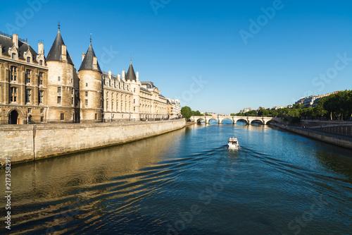 Poster River Seine Cityscape in Paris