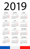 Calendar 2019 - illustration. French version - 217358861
