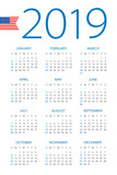 Calendar 2019 - illustration. American version - 217359053