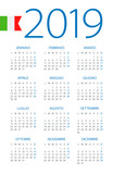 Calendar 2019 - illustration. Italian version - 217359484