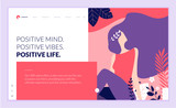 Web page design template for beauty, spa, wellness, natural products, cosmetics, body care, healthy life. Modern flat design vector illustration concept for website and mobile website development.  - 217360671