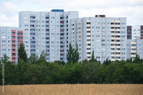 Canvas Berlijn Wohnbauten am Mauerweg in Berlin