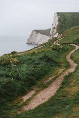Hiking Trail and Chalk Cliffs, Durdle Door, United Kingdom © Matt