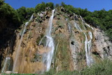 Waterfall at the plitvice lakes Croatia