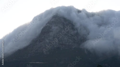 Clouds coming from the mountain in South Africa