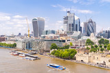 London downtown with River Thames - 217392609